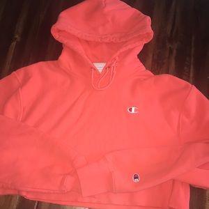 Champion crop hoodie